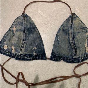 Guess Jean bikini top